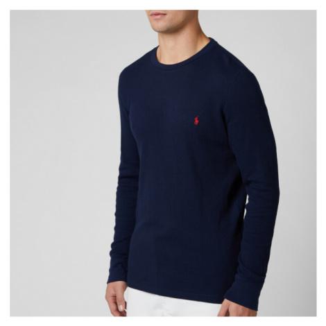 Polo Ralph Lauren Men's Long Sleeve Top - Cruise Navy/Heart Red - Blue