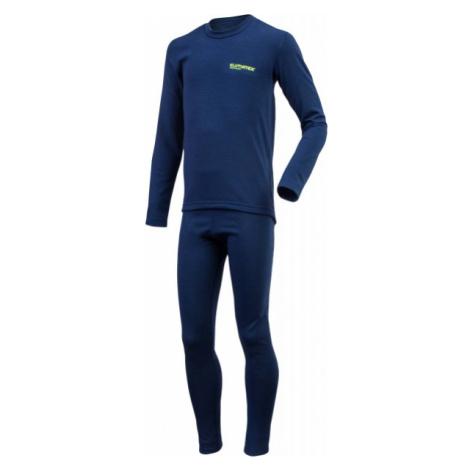 Klimatex ROKI dark blue - Kids' functional undergarment set