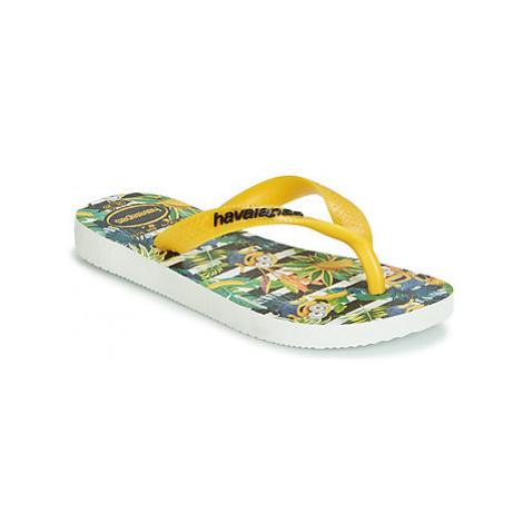 Havaianas MINIONS boys's Children's Flip flops / Sandals in Yellow