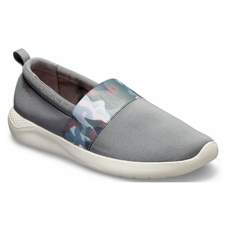 shoes Crocs LiteRide Graphic Slip-On - Charcoal/Stucco - women´s