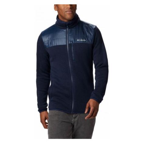 Columbia CANYON POINT SWEATER FLEECE FULL ZIP dark blue - Men's fleece sweater