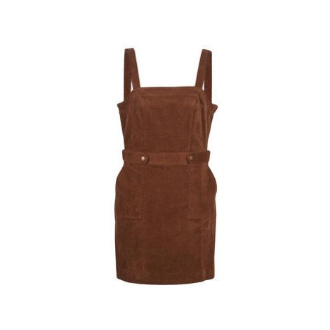 Naf Naf VELVOU R2 women's Dress in Brown