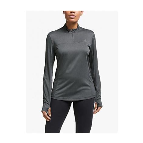 Adidas Own The Run 1/2 Zip Long Sleeve Running Top, Grey Six