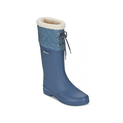Aigle POLKA GIBOULEE women's Wellington Boots in Blue
