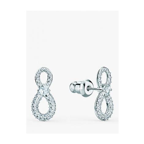 Swarovski Infinity Crystal Stud Earrings, Silver