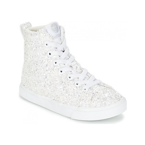 Hummel STRADA SPARKLE JR girls's Children's Shoes (High-top Trainers) in White