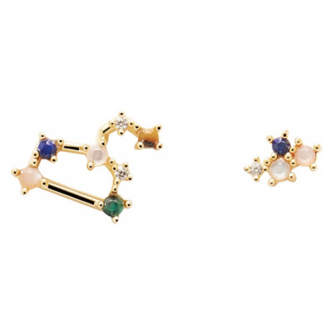 P D PAOLA Gold Plated Leo Constellation Earrings