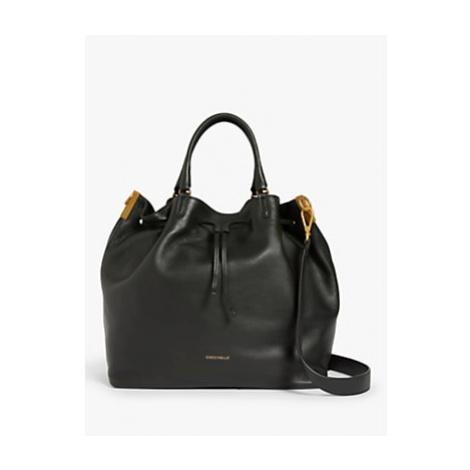 Coccinelle Gabrielle Maxi Leather Bucket Bag, Black