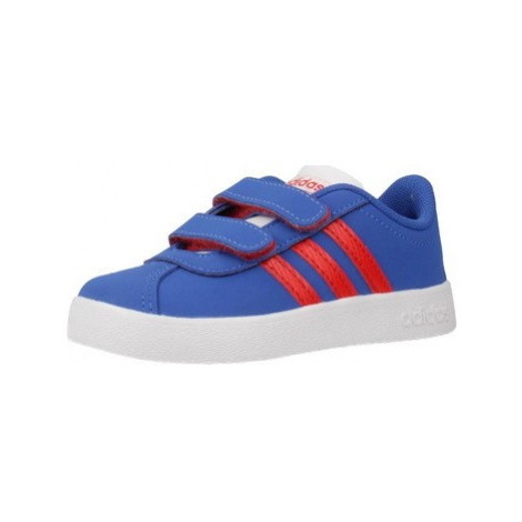 Adidas VL COURT 2.0 CMF I boys's Children's Shoes (Trainers) in Blue