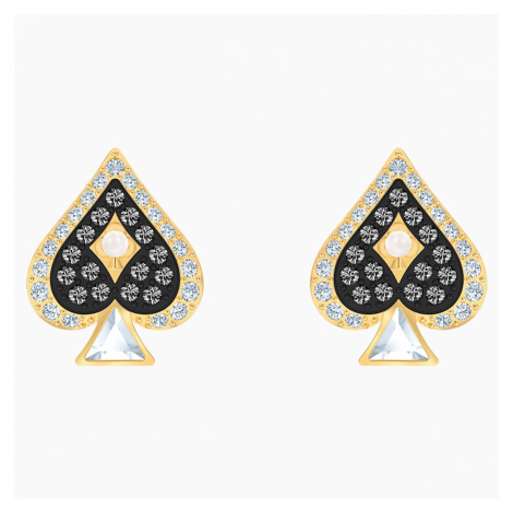 Tarot Magic Stud Pierced Earrings, Multi-coloured, Gold-tone plated