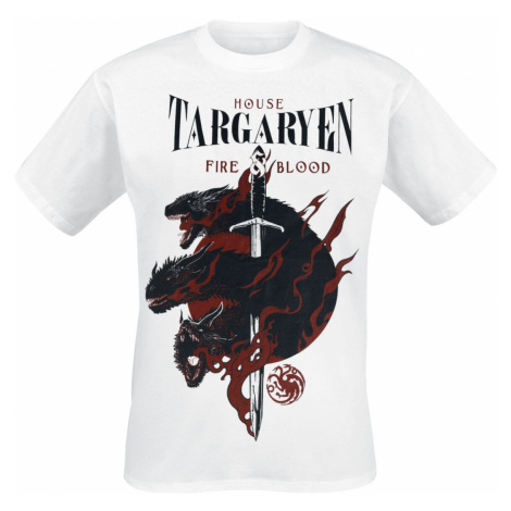 Game of Thrones House Targaryen - Fire And Blood T-Shirt white