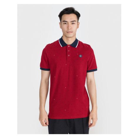 Jack & Jones Aop Polo shirt Red