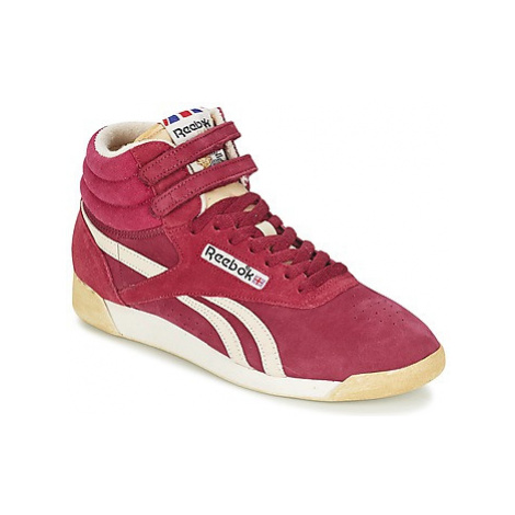Red women's training shoes