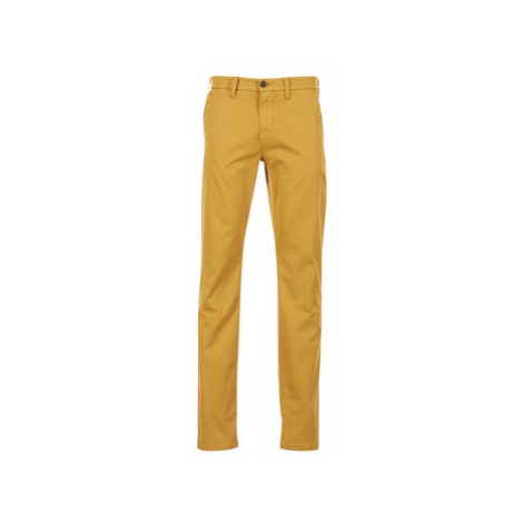 Timberland SQUAM LAKE LW STRETCH TWILL STRAIGHT CHINO men's Trousers in Yellow