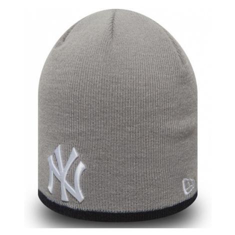 New Era MLB Team Skull knit NY Yankees Grey