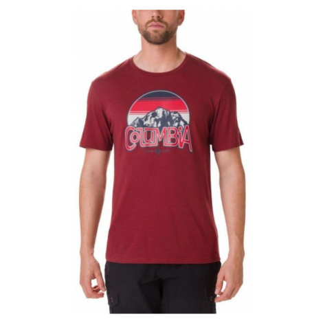 Columbia BASIN BUTTE SS GRAPHIC TEE red - Men's T-shirt