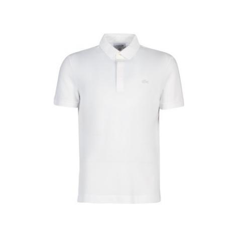 Lacoste PARIS POLO REGULAR men's Polo shirt in White