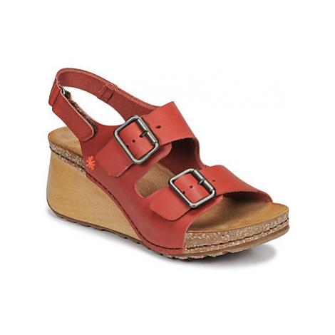 Art BORNE women's Sandals in Red