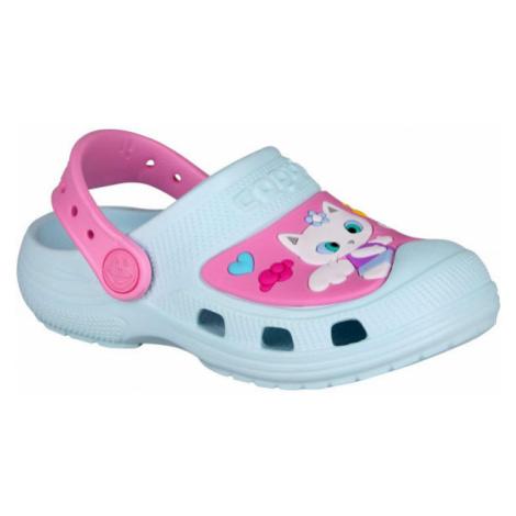 Coqui CROAKY blue - Kids' sandals