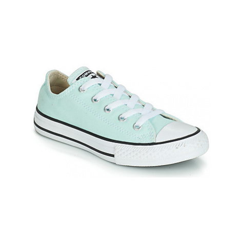 Converse CHUCK TAYLOR ALL STAR SEASONAL CANVAS OX girls's Children's Shoes (Trainers) in Blue