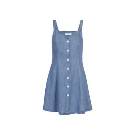 Blue shoulder strap dresses