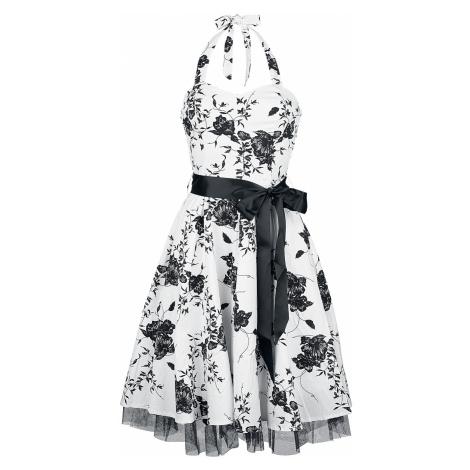 H&R London - Floral Long Dress - Dress - white-black