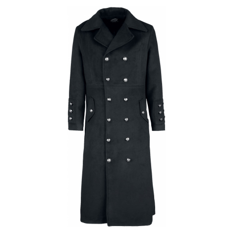 H&R London - Classic Military Coat - Coat - black