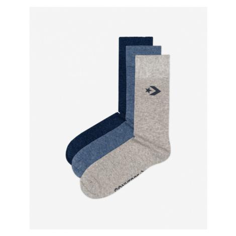 Converse Set of 3 pairs of socks Blue Grey