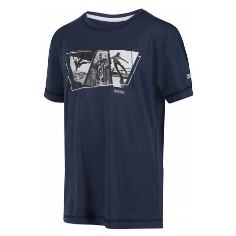Regatta Kids Alvarado V T-Shirt-Dark Denim-11-12 Years