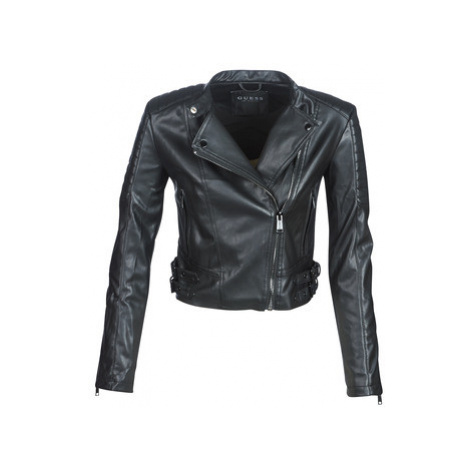 Guess ROMANA women's Leather jacket in Black