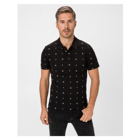 Calvin Klein Aop Polo shirt Black
