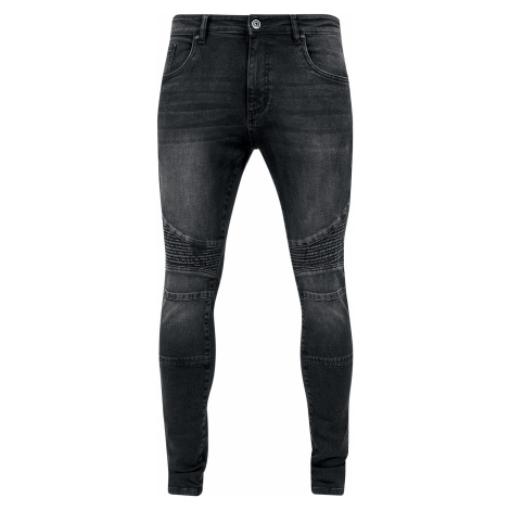 Urban Classics - Slim Fit Biker Jeans - Jeans - black