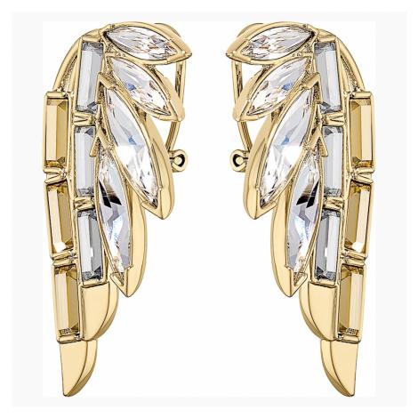 Wonder Woman Pierced Earrings, Gold tone, Gold-tone plated Swarovski