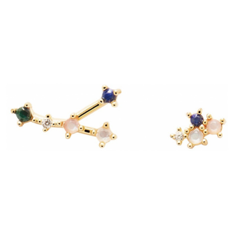 P D PAOLA Gold Plated Cancer Constellation Earrings