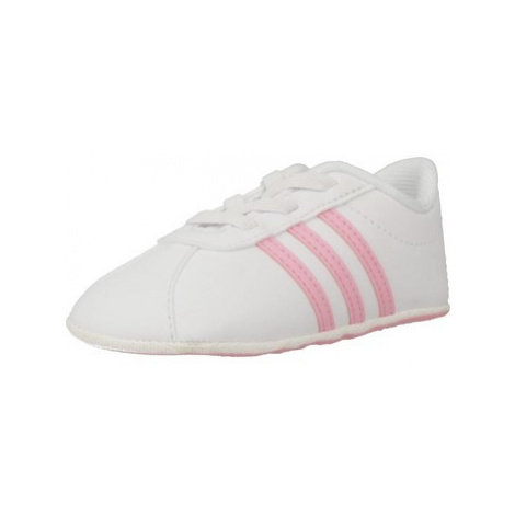 Adidas VL COURT 2.0 CRIB girls's Children's Shoes (Trainers) in White