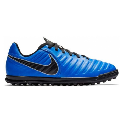 Nike JR TIEMPO LEGENDX 7 TF blue - Children's turf football boots