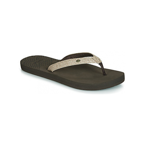 Rip Curl P-LOW GIRLS women's Flip flops / Sandals (Shoes) in Gold