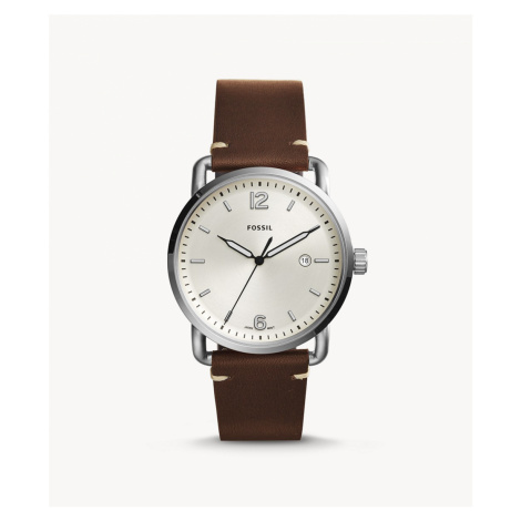 Fossil Men's The Commuter Three-Hand Date Brown Leather Watch