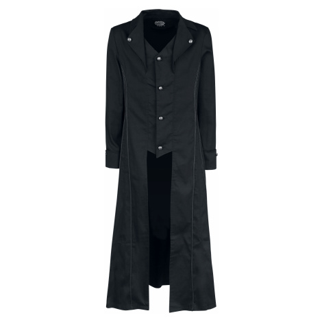 H&R London - Black Classic Coat - Coat - black