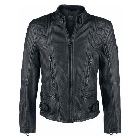 Gipsy - Highway 2 Slim Fit LAGIV - Leather jacket - black