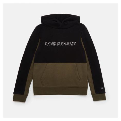 Calvin Klein Jeans Boys' Colour Block Hoodie - Ck Black