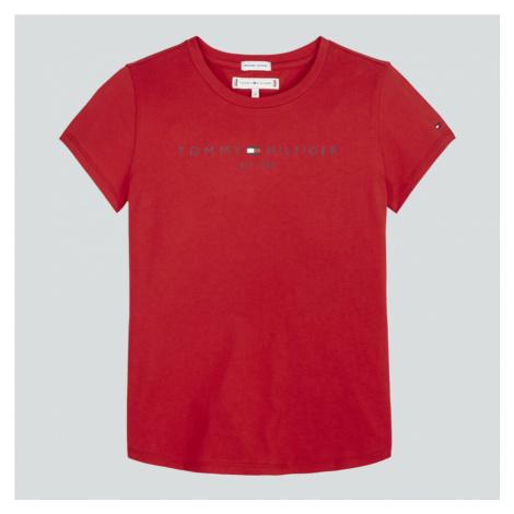 Tommy Hilfiger Girls' Essential Short Sleeve T-Shirt - Deep Crimson