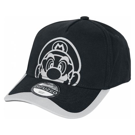 Super Mario - Face - Baseball cap - black