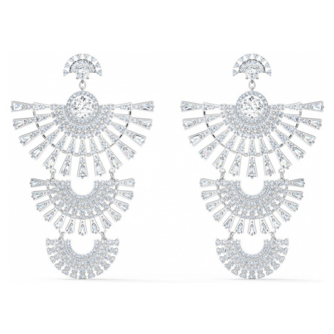 Swarovski Sparkling Dance Dial Up White Crystal Earrings