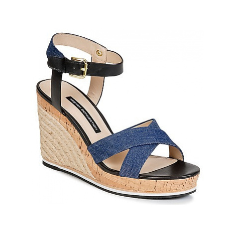 French Connection LATA women's Sandals in Blue