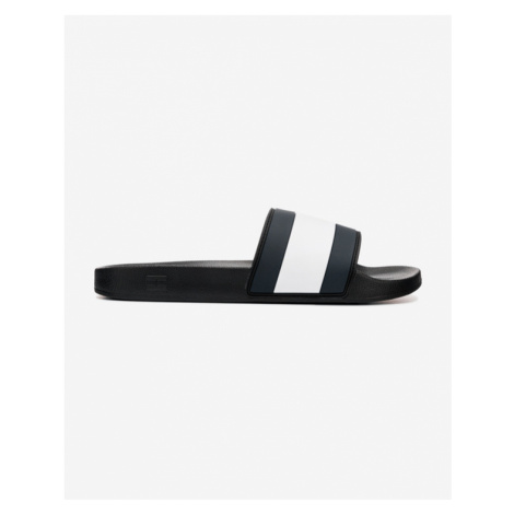 Tommy Hilfiger Essential Flag Pool Slide Slippers Black Blue White