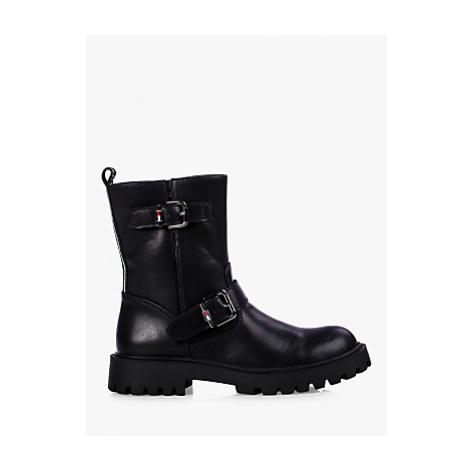 Tommy Hilfiger Children's Biker Boots, Black