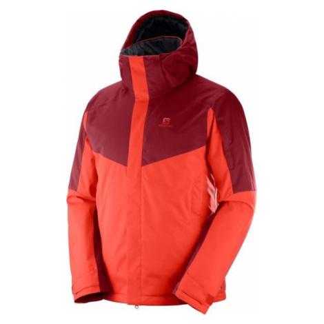 Salomon STORMSEEKER JKT red - Men's ski jacket