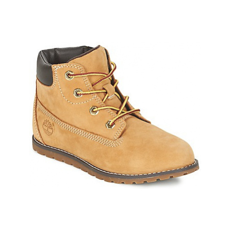 Timberland POKEY PINE 6IN BOOT WITH girls's Children's Mid Boots in Beige