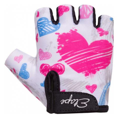 Etape TINY white - Kids' cycling gloves